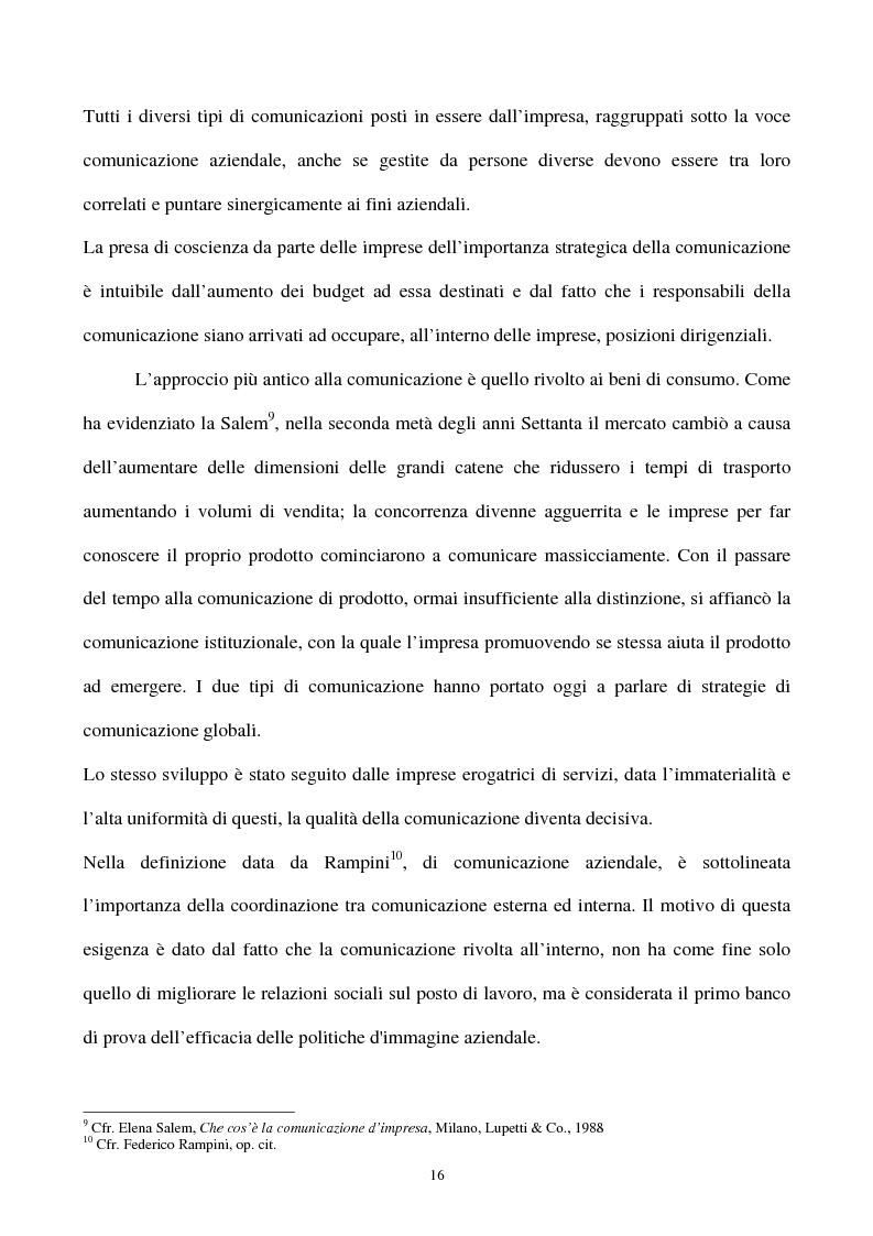 Anteprima della tesi: La gestione strategica della corporate identity, Pagina 11