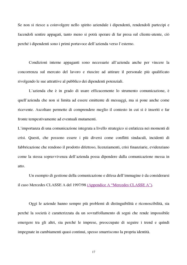 Anteprima della tesi: La gestione strategica della corporate identity, Pagina 12
