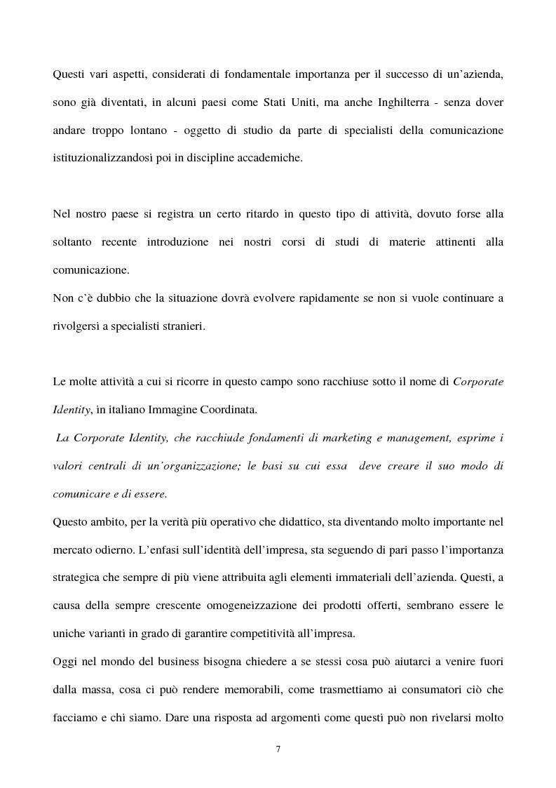 Anteprima della tesi: La gestione strategica della corporate identity, Pagina 2
