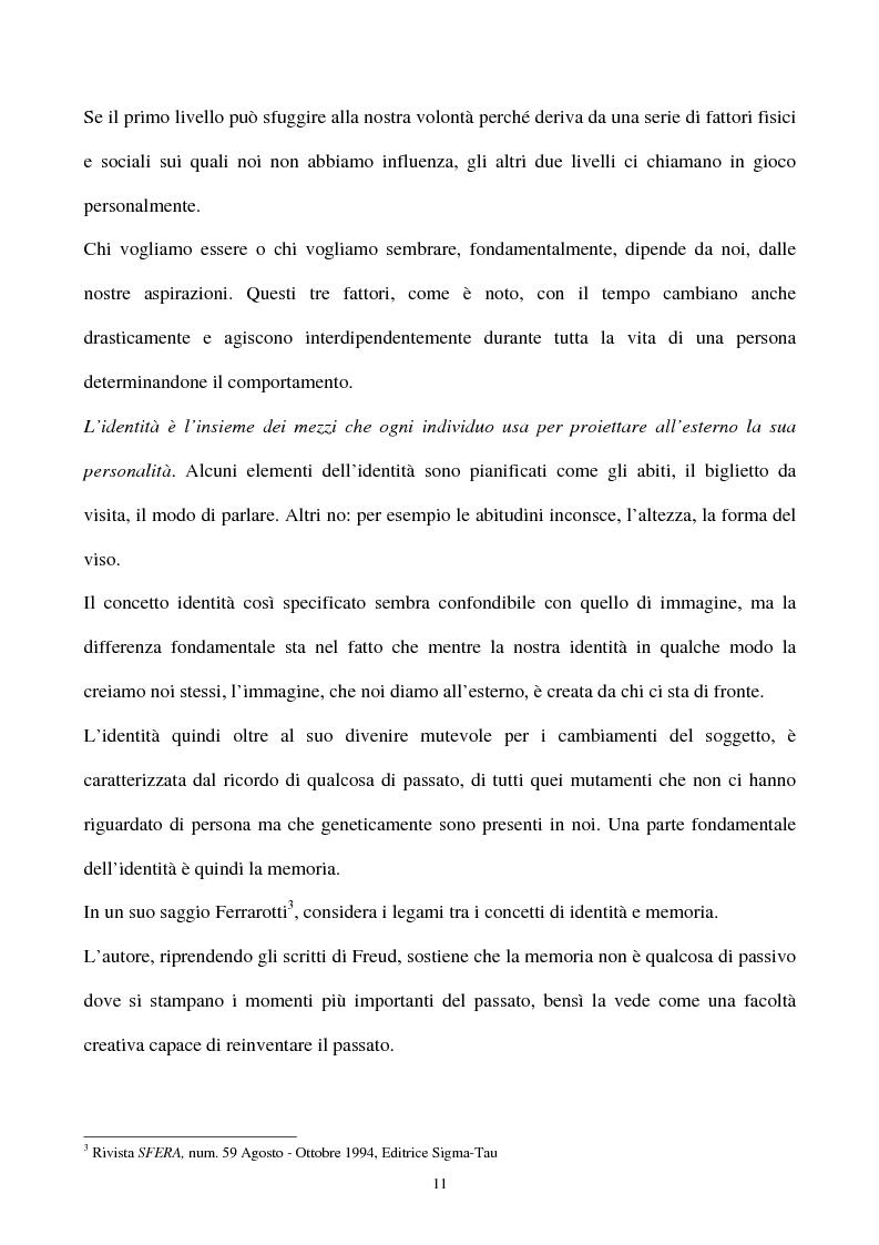 Anteprima della tesi: La gestione strategica della corporate identity, Pagina 6