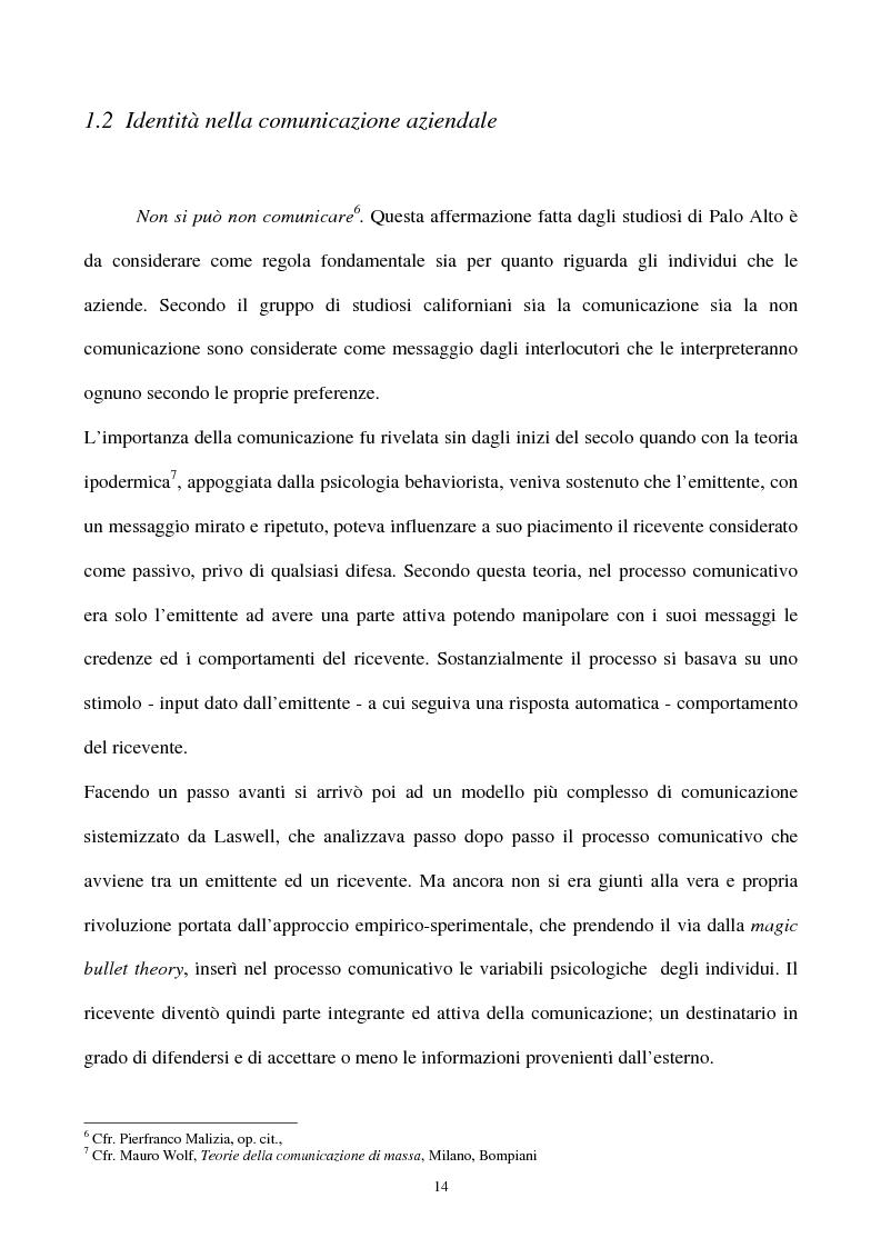 Anteprima della tesi: La gestione strategica della corporate identity, Pagina 9