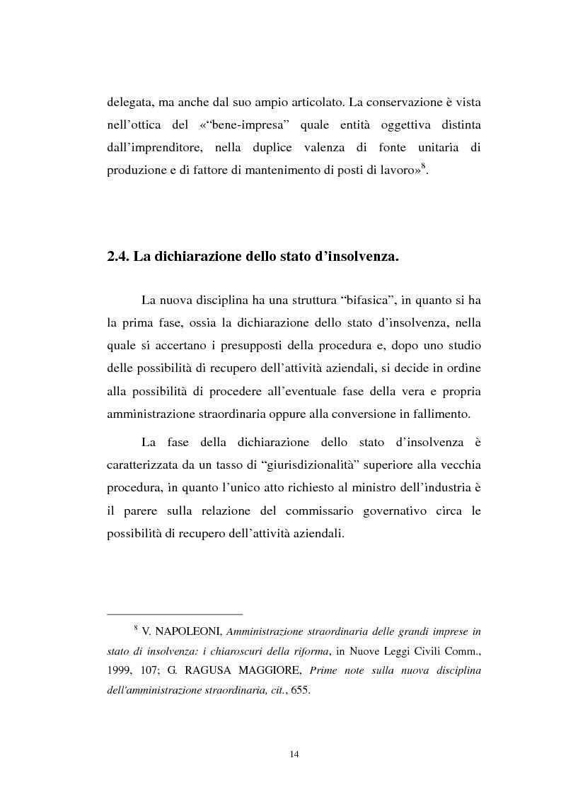 Anteprima della tesi: La revocatoria nel fallimento e nell'amministrazione straordinaria delle grandi imprese in stato d'insolvenza, Pagina 10