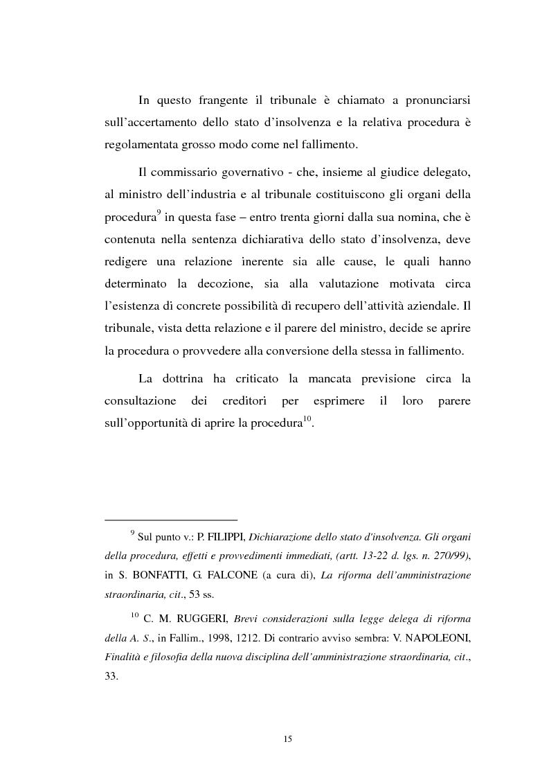 Anteprima della tesi: La revocatoria nel fallimento e nell'amministrazione straordinaria delle grandi imprese in stato d'insolvenza, Pagina 11