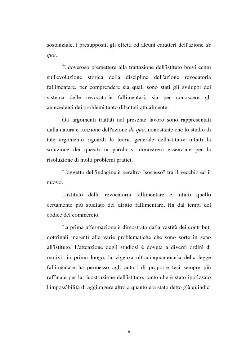 Anteprima della tesi: La revocatoria nel fallimento e nell'amministrazione straordinaria delle grandi imprese in stato d'insolvenza, Pagina 2