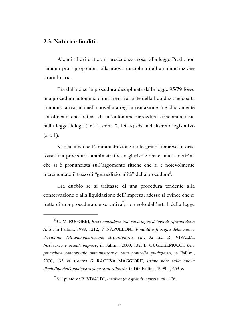 Anteprima della tesi: La revocatoria nel fallimento e nell'amministrazione straordinaria delle grandi imprese in stato d'insolvenza, Pagina 9