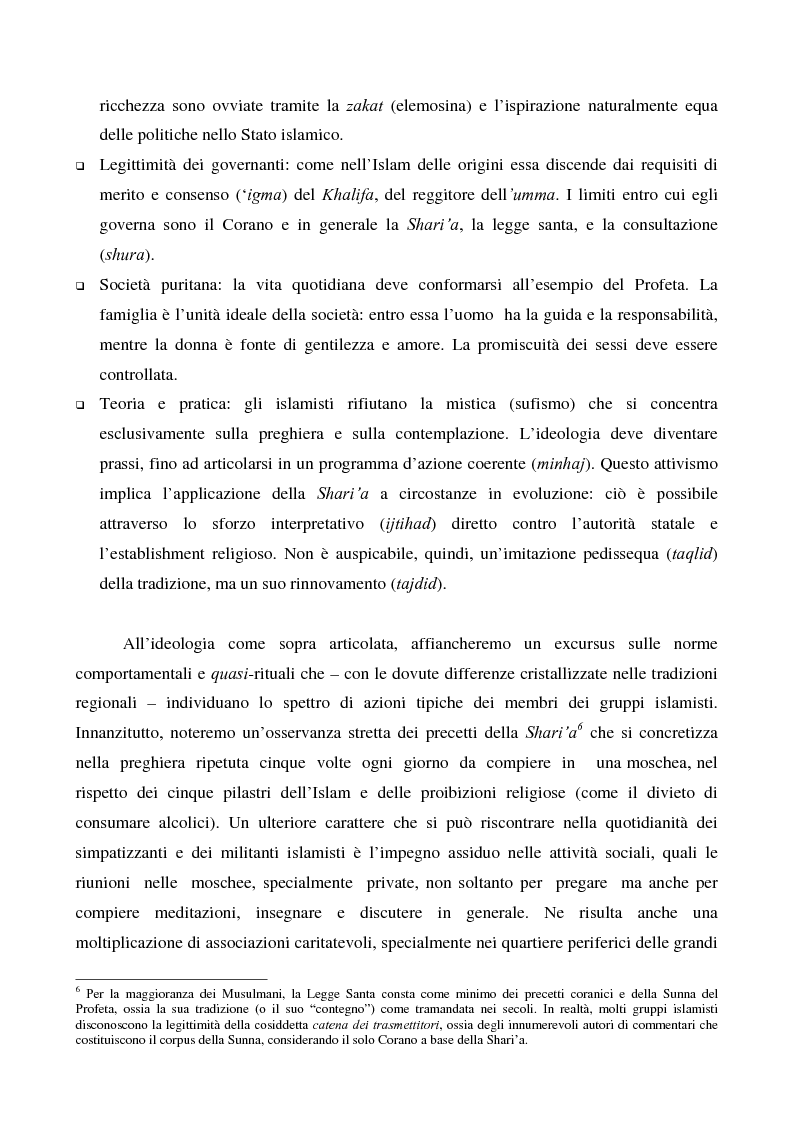 Anteprima della tesi: I movimenti islamisti egiziani e la presidenza Mubarak, Pagina 10