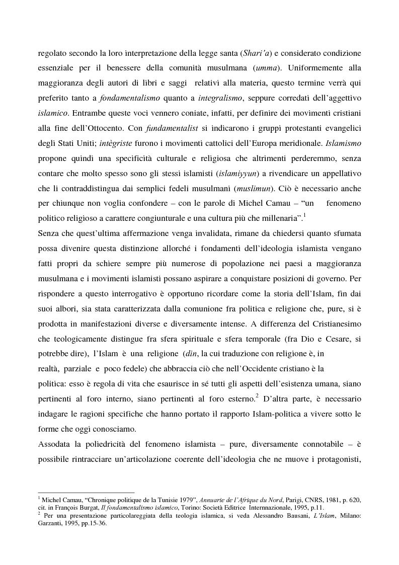 Anteprima della tesi: I movimenti islamisti egiziani e la presidenza Mubarak, Pagina 8