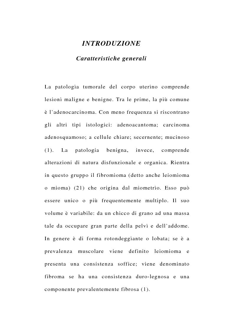 Anteprima della tesi: Risultati morfologici, funzionali e soggettivi degli interventi conservativi dell'utero, Pagina 1