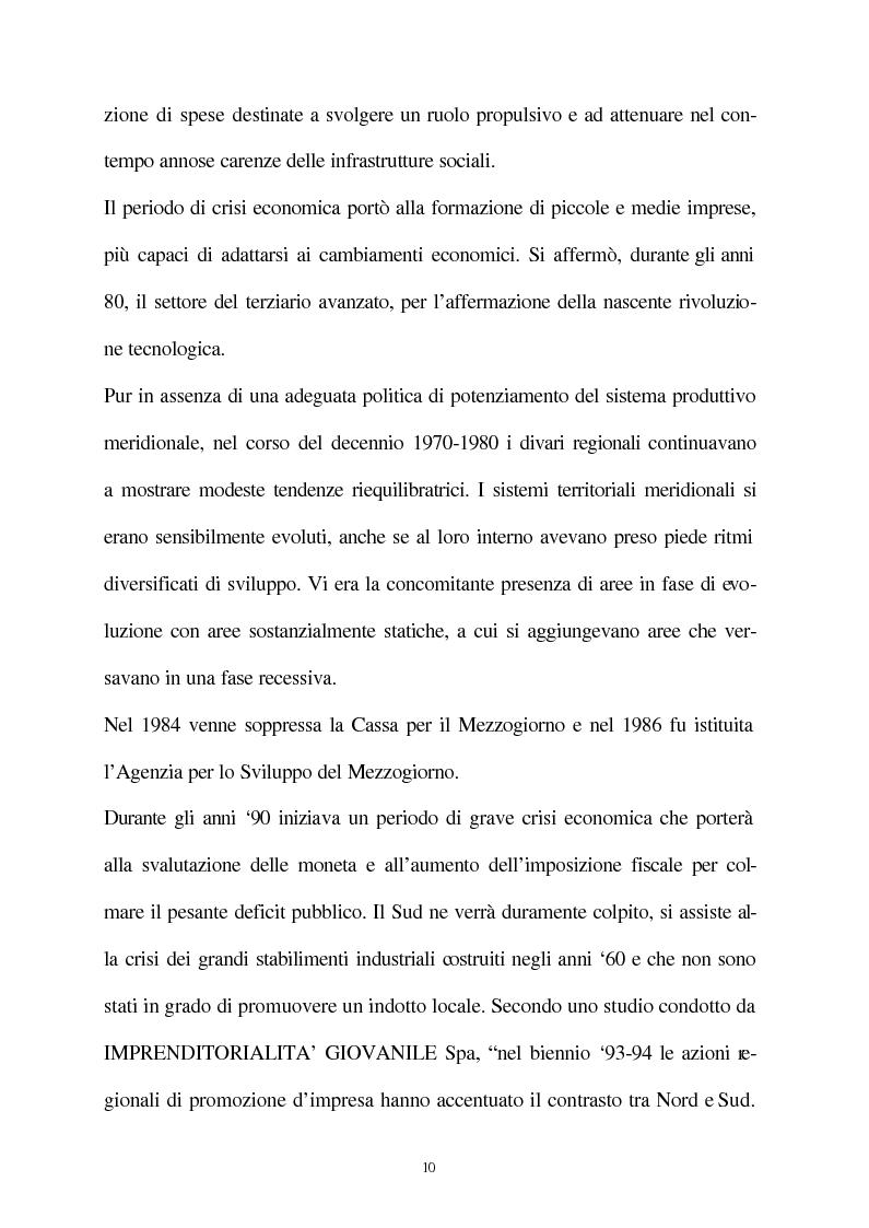 Anteprima della tesi: Vecchie e nuove strategie per lo sviluppo industriale: l'ASI di Bari e il Patto Territoriale, Pagina 11