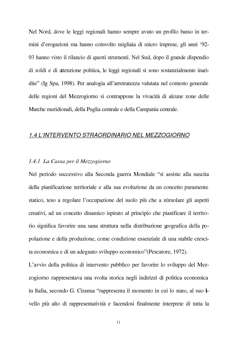 Anteprima della tesi: Vecchie e nuove strategie per lo sviluppo industriale: l'ASI di Bari e il Patto Territoriale, Pagina 12