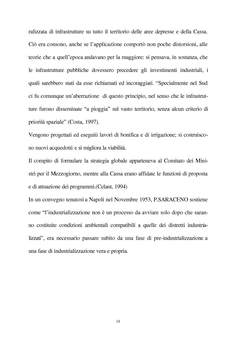 Anteprima della tesi: Vecchie e nuove strategie per lo sviluppo industriale: l'ASI di Bari e il Patto Territoriale, Pagina 15