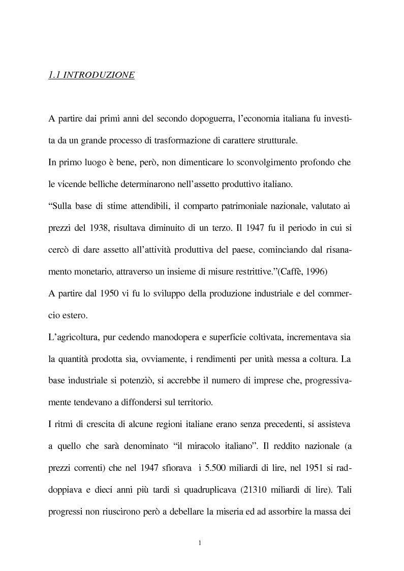 Anteprima della tesi: Vecchie e nuove strategie per lo sviluppo industriale: l'ASI di Bari e il Patto Territoriale, Pagina 2