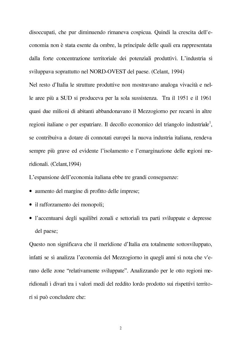 Anteprima della tesi: Vecchie e nuove strategie per lo sviluppo industriale: l'ASI di Bari e il Patto Territoriale, Pagina 3