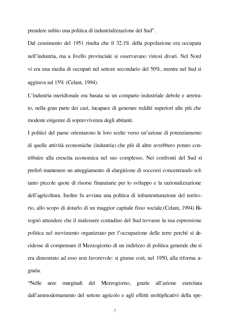 Anteprima della tesi: Vecchie e nuove strategie per lo sviluppo industriale: l'ASI di Bari e il Patto Territoriale, Pagina 8
