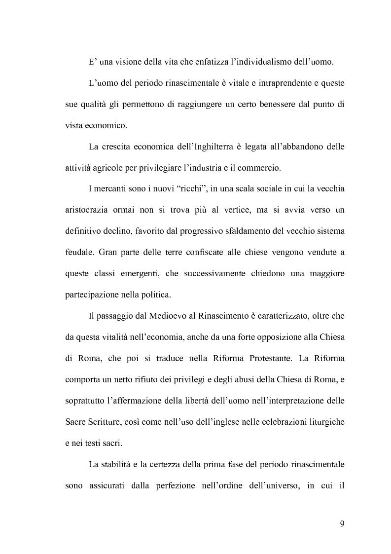 Anteprima della tesi: The Devil's Law-Case: la tragicommedia nel teatro di John Webster, Pagina 8