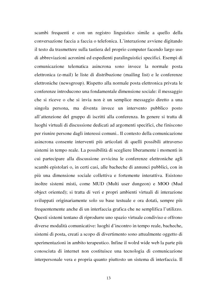 Anteprima della tesi: Internet come strumento e risorsa per lo psicologo clinico, Pagina 9