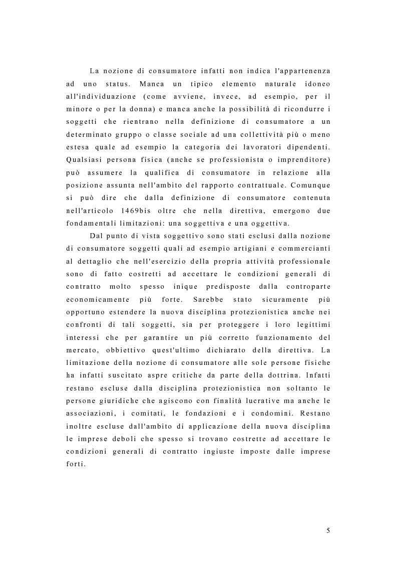 Anteprima della tesi: I contratti dei consumatori, Pagina 2