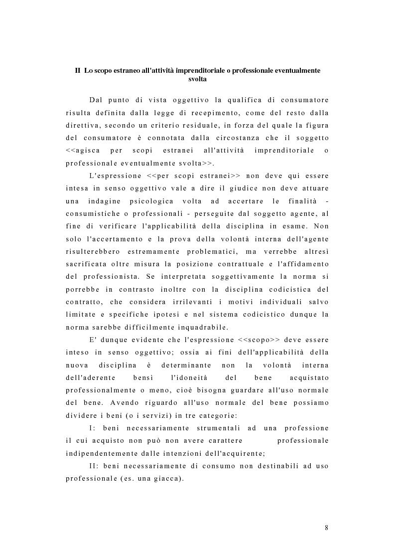 Anteprima della tesi: I contratti dei consumatori, Pagina 5
