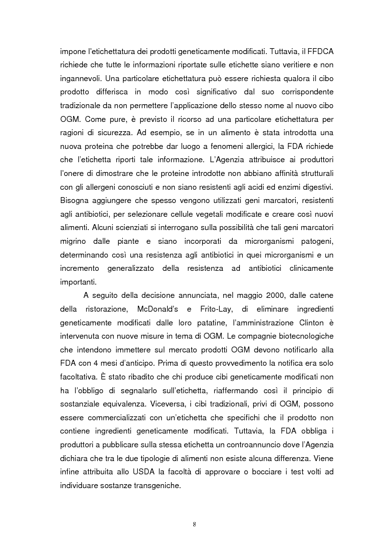 Anteprima della tesi: Biotecnologie e agribusiness: aspetti giuridici, economici e sociali, Pagina 11