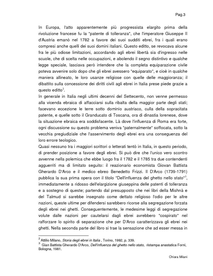 Anteprima della tesi: Gli Ebrei in Italia - Alcuni studi di ''Italia Judaica'', Pagina 3