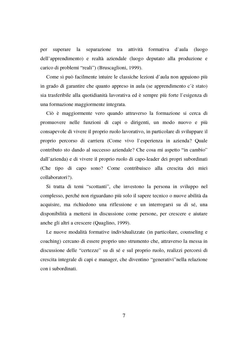 Anteprima della tesi: Counseling e coaching per la formazione dei manager: l'esperienza di Bayer, Pagina 5