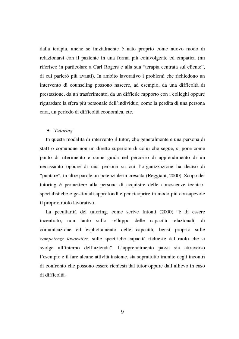 Anteprima della tesi: Counseling e coaching per la formazione dei manager: l'esperienza di Bayer, Pagina 7