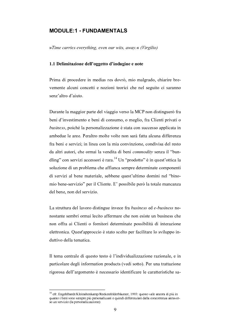 Anteprima della tesi: The One-Customer-Segment: la personalizzazione come fattore critico di successo dei servizi su Internet, Pagina 1