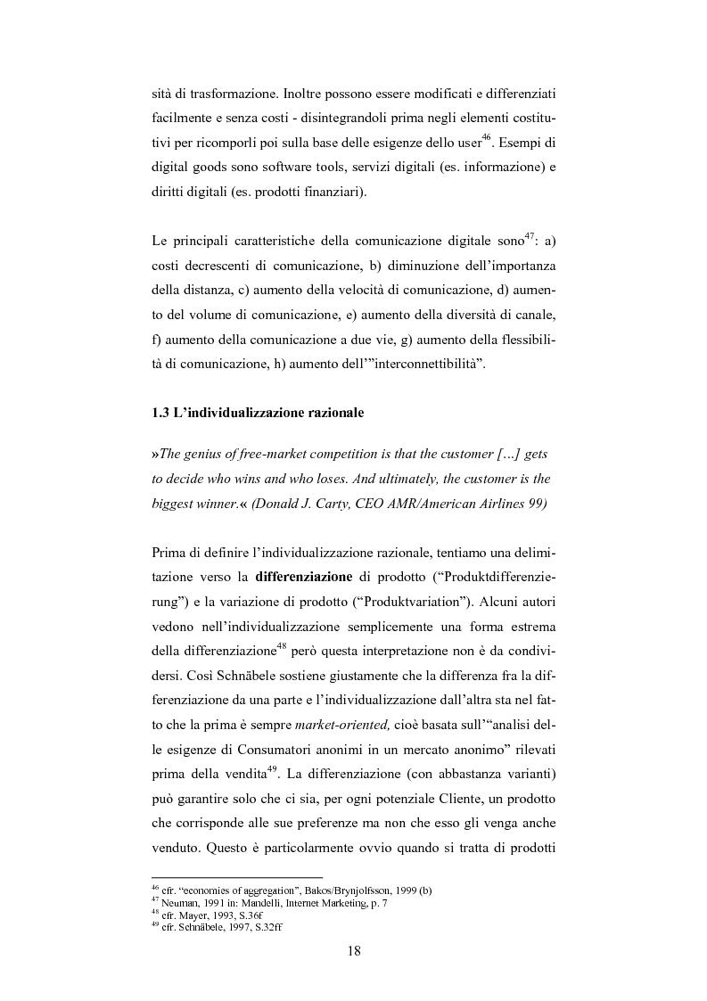 Anteprima della tesi: The One-Customer-Segment: la personalizzazione come fattore critico di successo dei servizi su Internet, Pagina 10