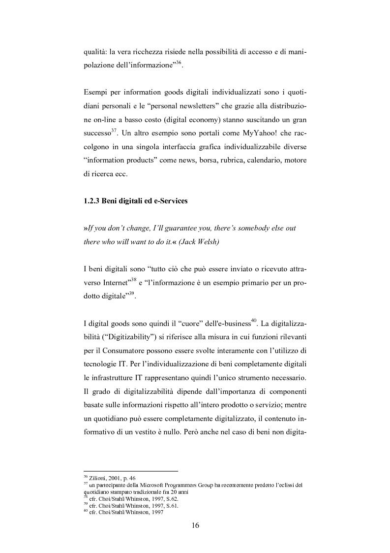 Anteprima della tesi: The One-Customer-Segment: la personalizzazione come fattore critico di successo dei servizi su Internet, Pagina 8