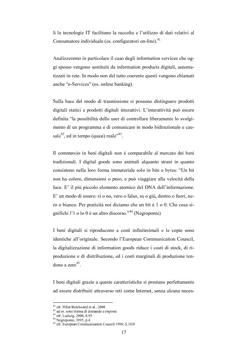Anteprima della tesi: The One-Customer-Segment: la personalizzazione come fattore critico di successo dei servizi su Internet, Pagina 9