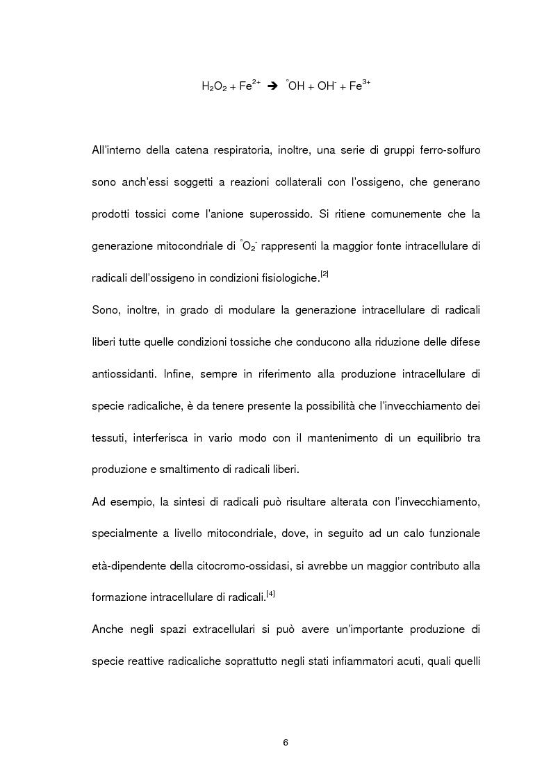Anteprima della tesi: Misura degli idroperossidi lipidici nel siero mediante l'ossidazione dello ione ferro, Pagina 6
