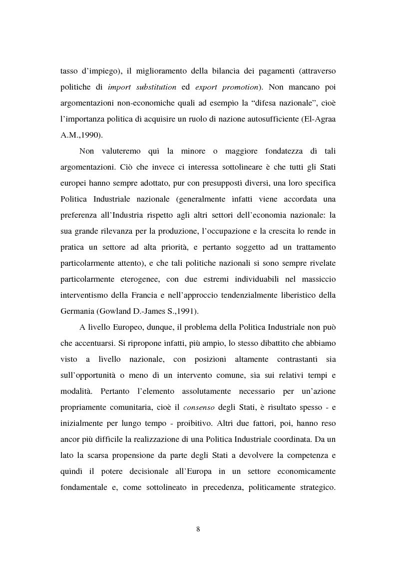 Anteprima della tesi: Le politiche industriali della Comunità Europea - Il settore tessile, Pagina 4