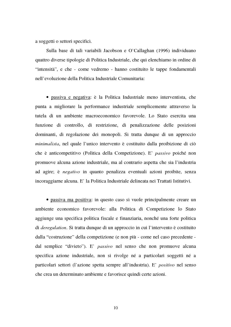 Anteprima della tesi: Le politiche industriali della Comunità Europea - Il settore tessile, Pagina 6