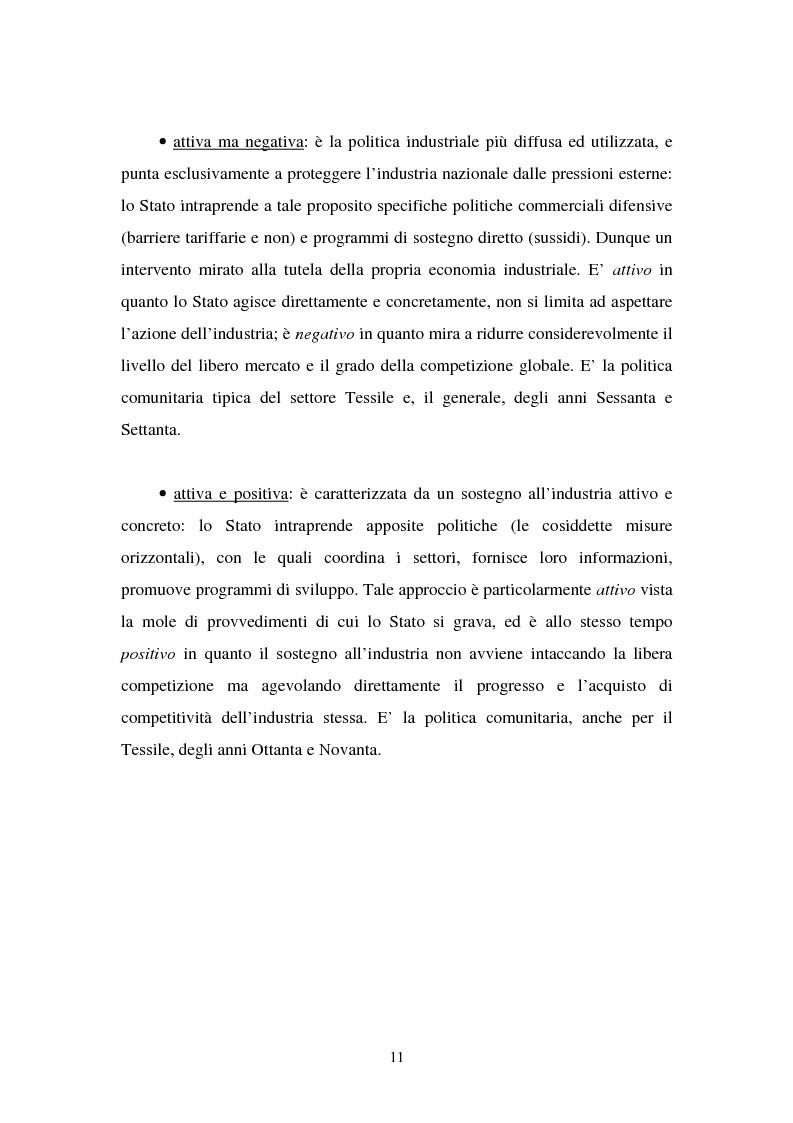 Anteprima della tesi: Le politiche industriali della Comunità Europea - Il settore tessile, Pagina 7