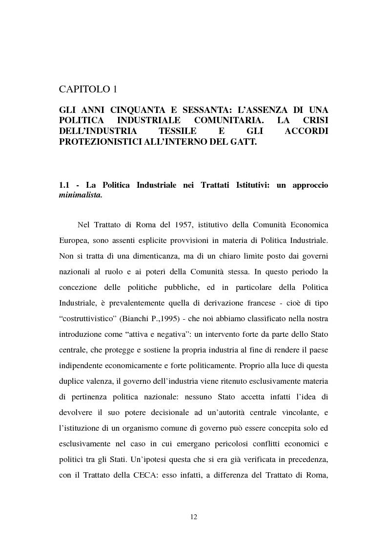 Anteprima della tesi: Le politiche industriali della Comunità Europea - Il settore tessile, Pagina 8