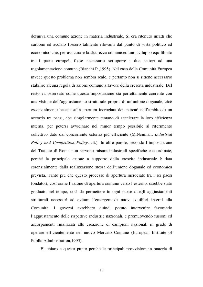 Anteprima della tesi: Le politiche industriali della Comunità Europea - Il settore tessile, Pagina 9