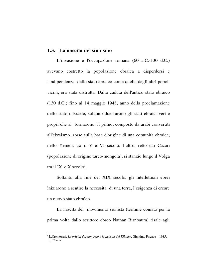 Anteprima della tesi: La questione dei rifugiati palestinesi e l'intervento dell'Onu, Pagina 9