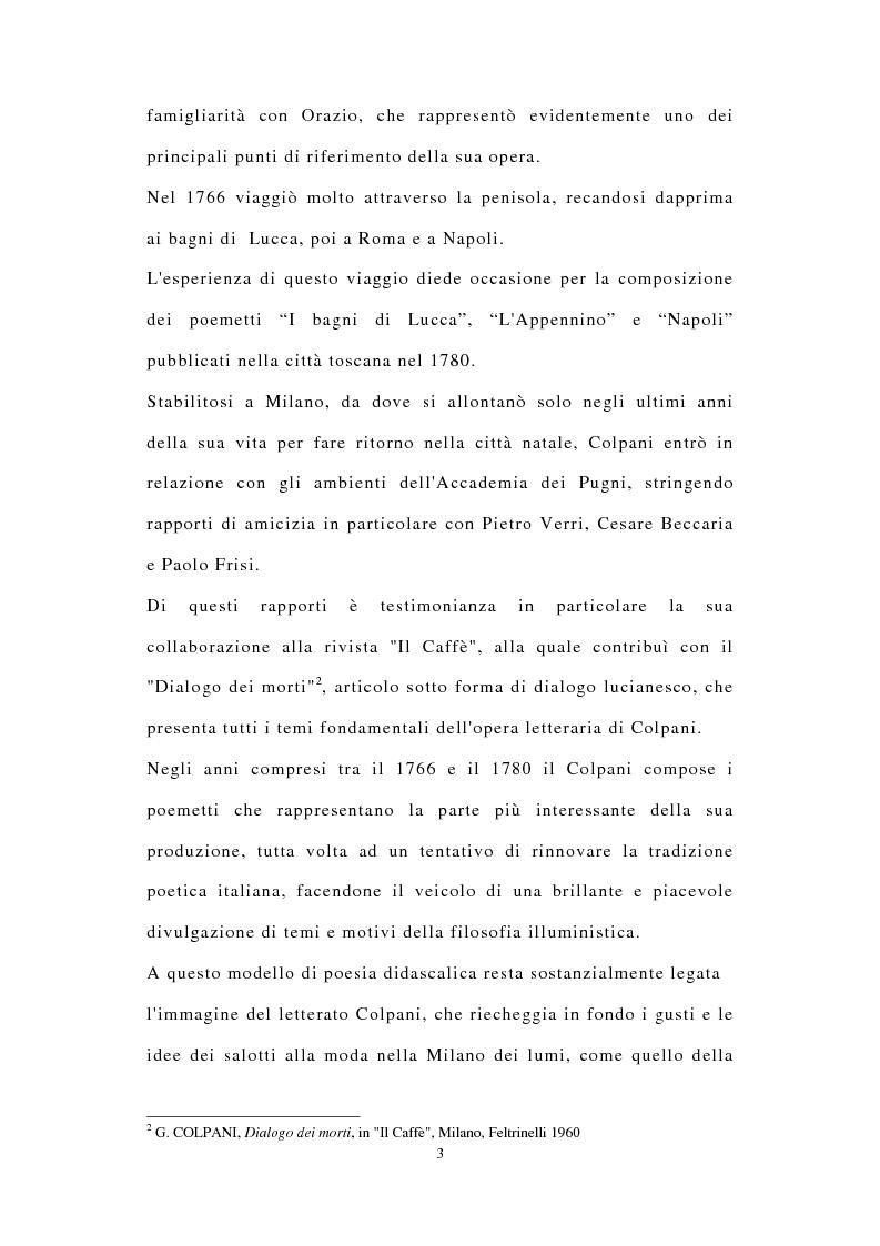 Anteprima della tesi: ''Miscuit utile dulci''. La poesia filosofica di Giuseppe Colpani (1738-1822), Pagina 2