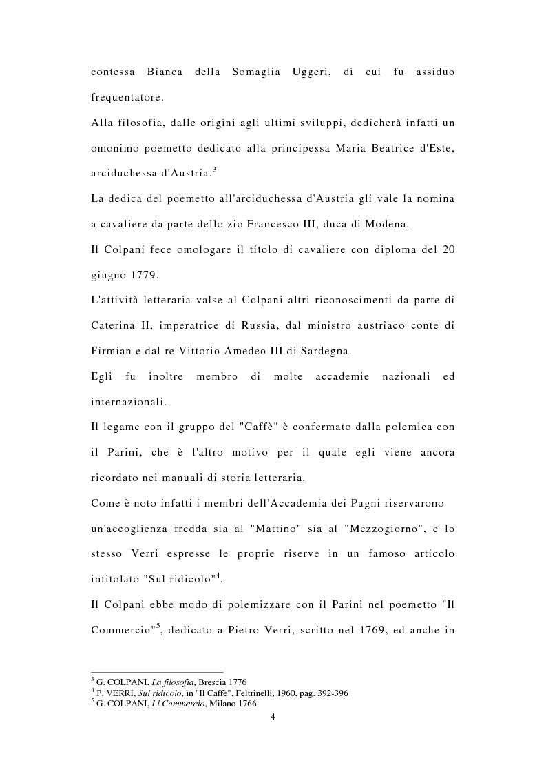 Anteprima della tesi: ''Miscuit utile dulci''. La poesia filosofica di Giuseppe Colpani (1738-1822), Pagina 3