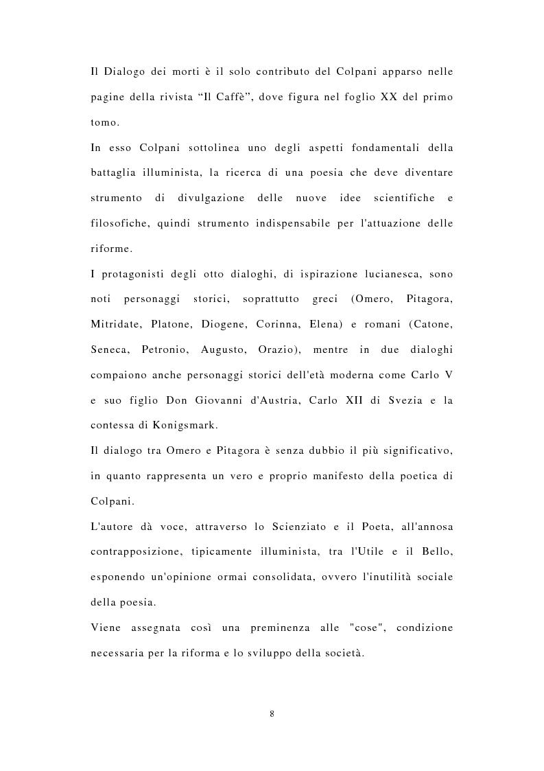 Anteprima della tesi: ''Miscuit utile dulci''. La poesia filosofica di Giuseppe Colpani (1738-1822), Pagina 7