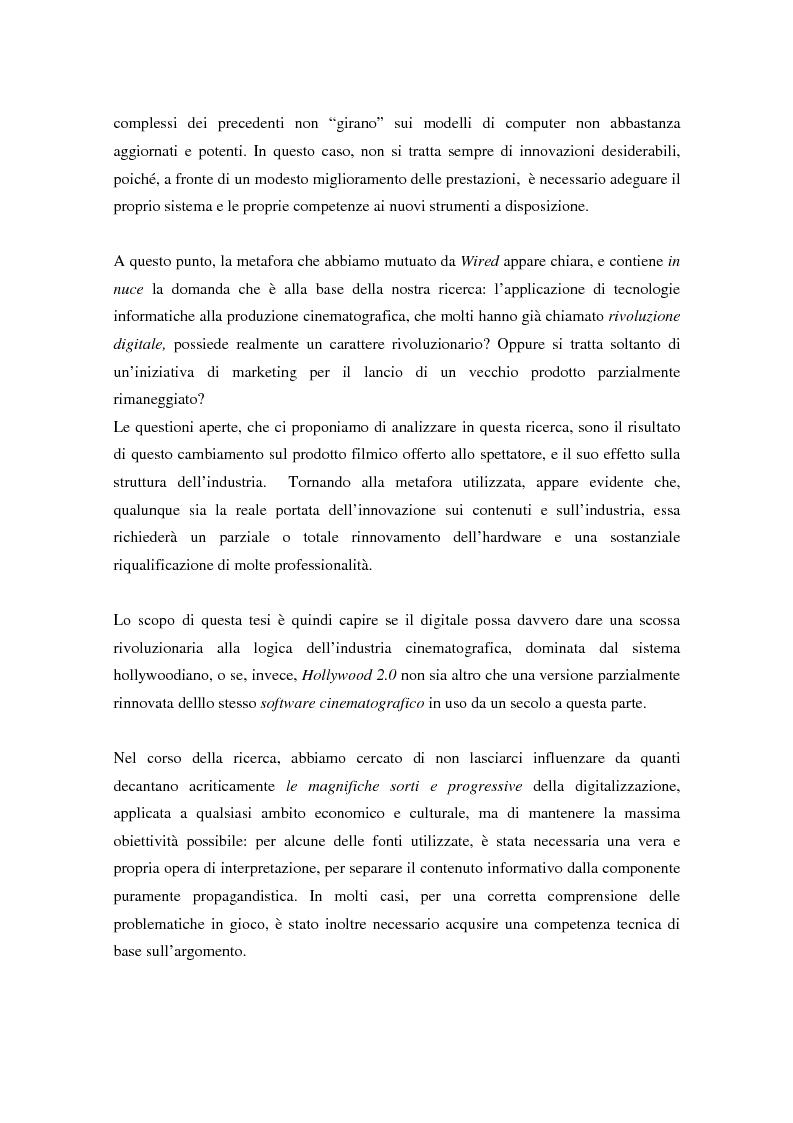 Anteprima della tesi: Hollywood 2.0: la produzione cinematografica nell'era digitale, Pagina 3