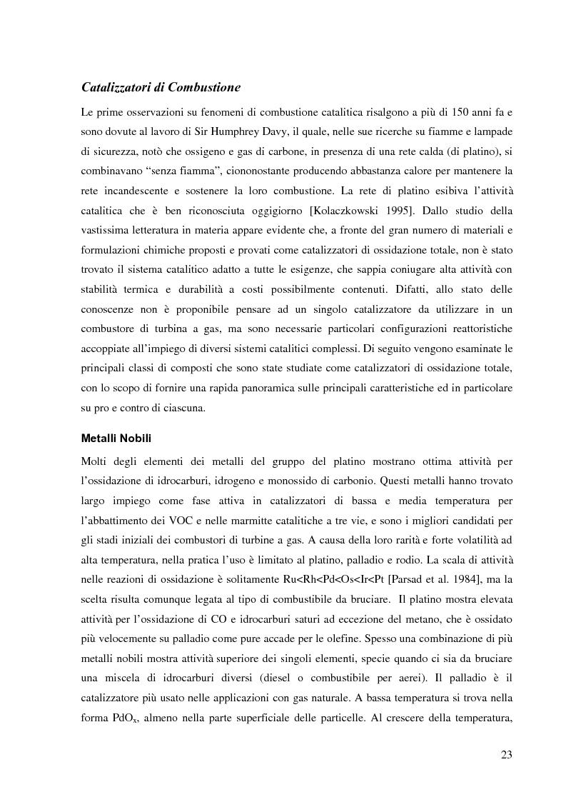 Anteprima della tesi: Combustione catalitica su sistemi perovskitici strutturati, Pagina 6