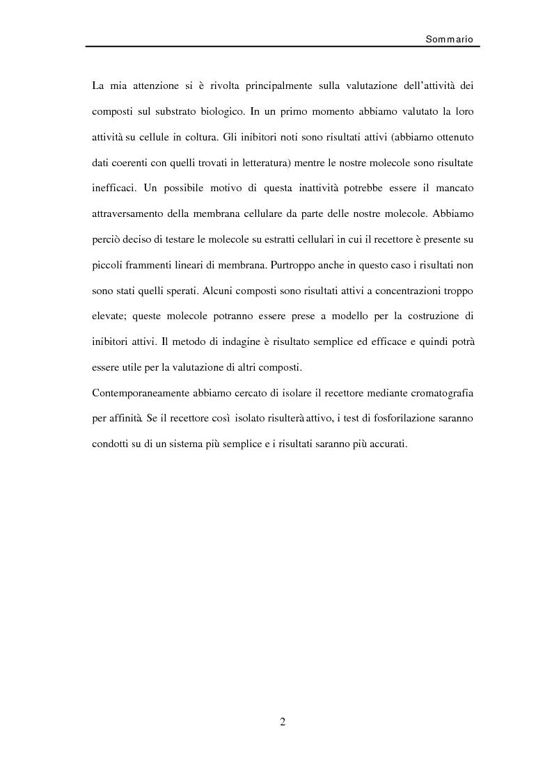 Anteprima della tesi: Studio di nuovi inibitori dell'attività tirosina chinasica associata all'Egfr, Pagina 2