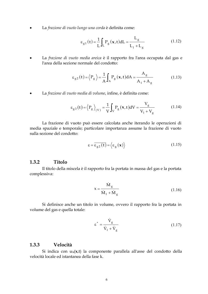 Anteprima della tesi: Indagine sperimentale del flusso bifase acqua-aria in regime intermittente entro condotti orizzontali, Pagina 5