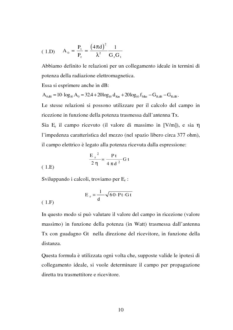 Anteprima della tesi: Sviluppo ed implementazione software di metodi UTD ray-tracing di previsione di propagazione elettromagnetica nel campo della telefonia cellulare in ambiente urbano, Pagina 9