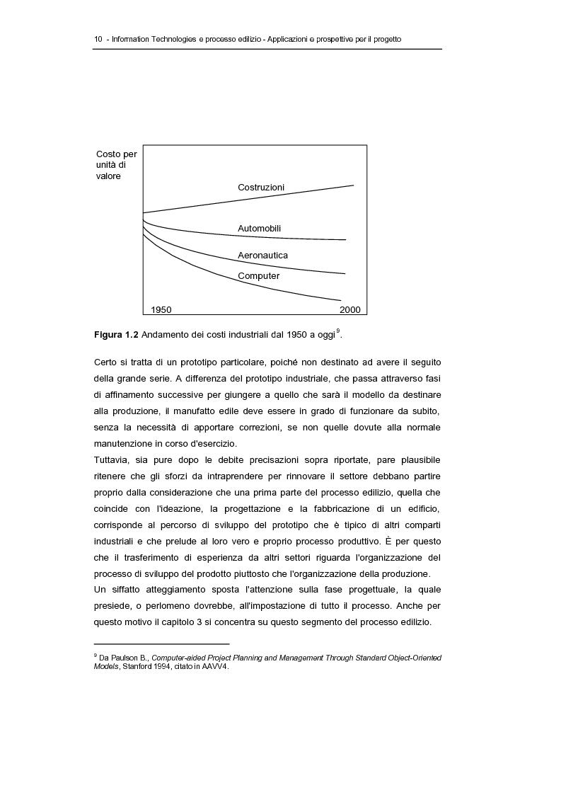 Anteprima della tesi: Information technologies e processo edilizio - Applicazioni e prospettive per il progetto, Pagina 10