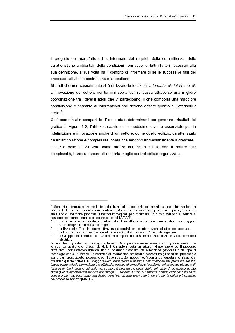 Anteprima della tesi: Information technologies e processo edilizio - Applicazioni e prospettive per il progetto, Pagina 11