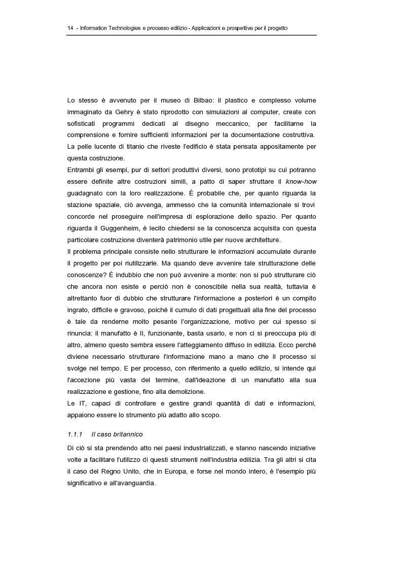 Anteprima della tesi: Information technologies e processo edilizio - Applicazioni e prospettive per il progetto, Pagina 14