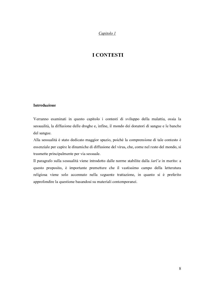 Anteprima della tesi: Hiv e Aids in Egitto: materiali per la prevenzione. Un approccio culturale, Pagina 8