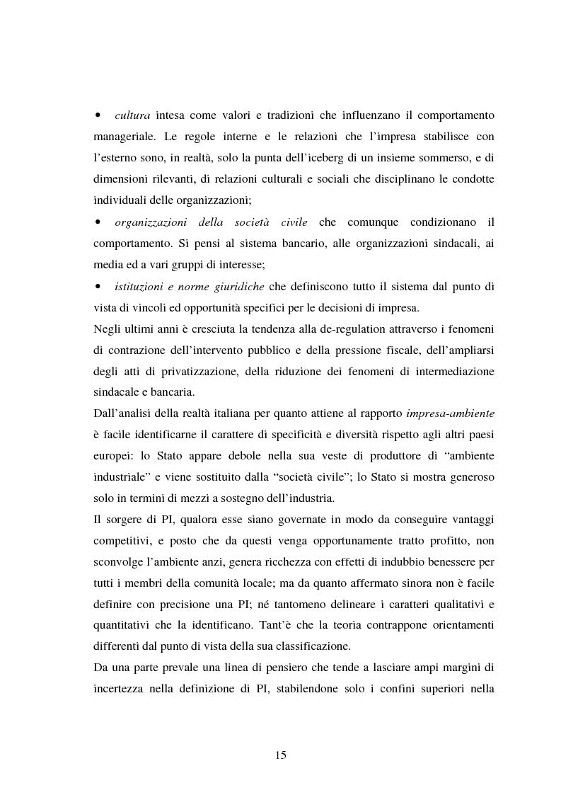 Anteprima della tesi: Piccole imprese e competitività: il ruolo dei parchi scientifici e tecnologici, Pagina 11